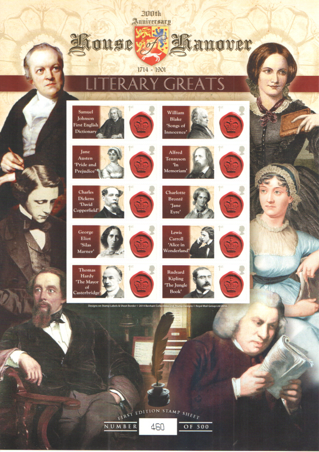 BC-431 2014 House of Hanover - Literary Greats Business Smilers Sheet
