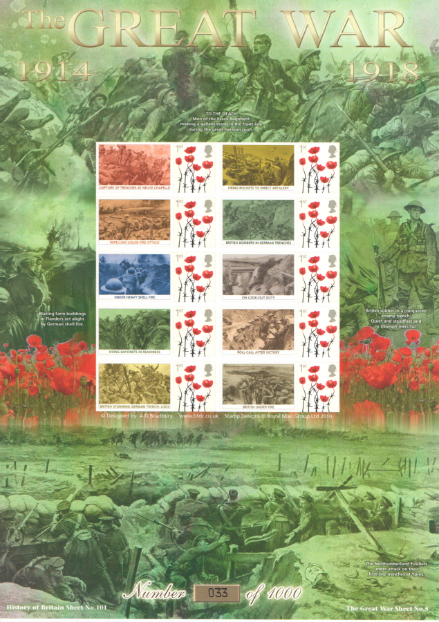 BC-434 2014 The Great War (V) History of Britain 101 Business Smilers Sheet