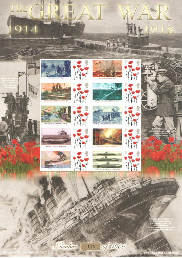 BC-453 2015 The Great War (VIII) History of Britain 112 Business Smilers Sheet