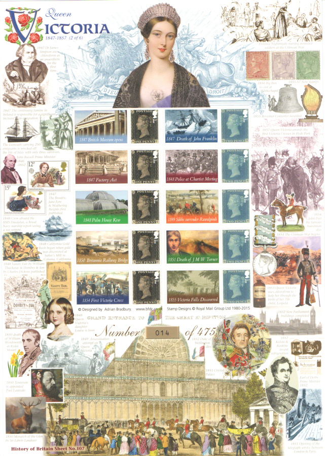 BC-456 2015 Queen Victoria (2 of 6) History of Britain 107 Business Smilers Sheet