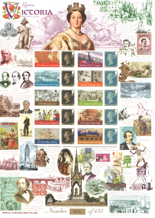 BC-458 2015 Queen Victoria (4 of 6) History of Britain 109 Business Smilers Sheet