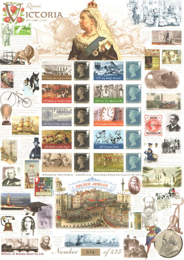 BC-459 2015 Queen Victoria (5 of 6) History of Britain 110 Business Smilers Sheet