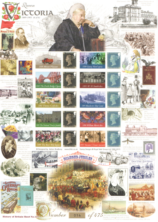 BC-460 2015 Queen Victoria (6 of 6) History of Britain 111 Business Smilers Sheet