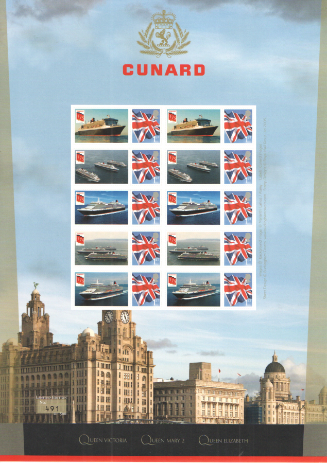 BC-466 2015 Cunard Liners Business Smilers Sheet