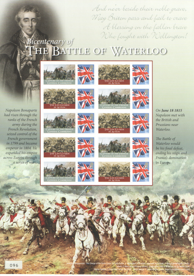 BC-471 2015 Bicentenary of The Battle of Waterloo Business Smilers Sheet