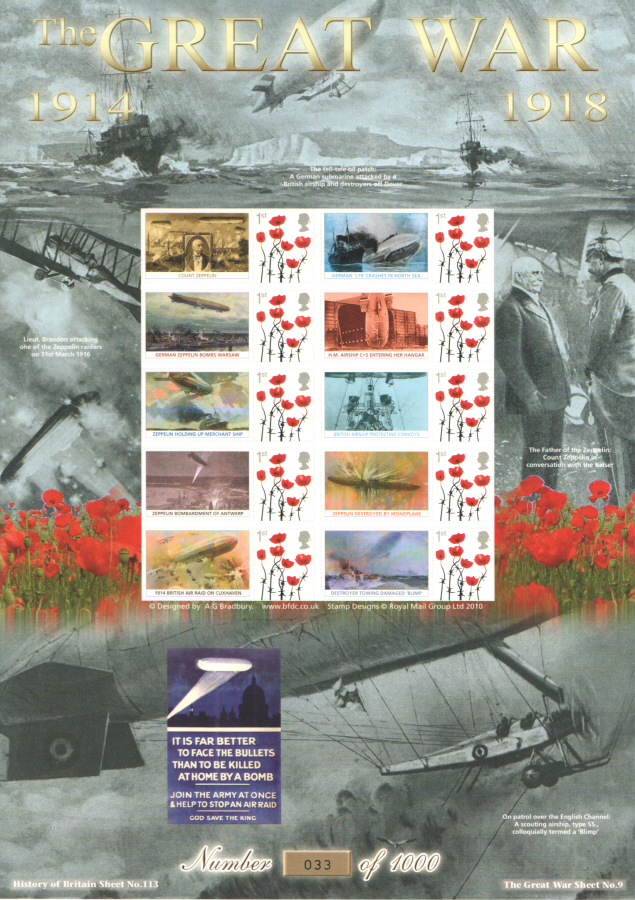 BC-475 2015 The Great War (IX) History of Britain 113 Business Smilers Sheet