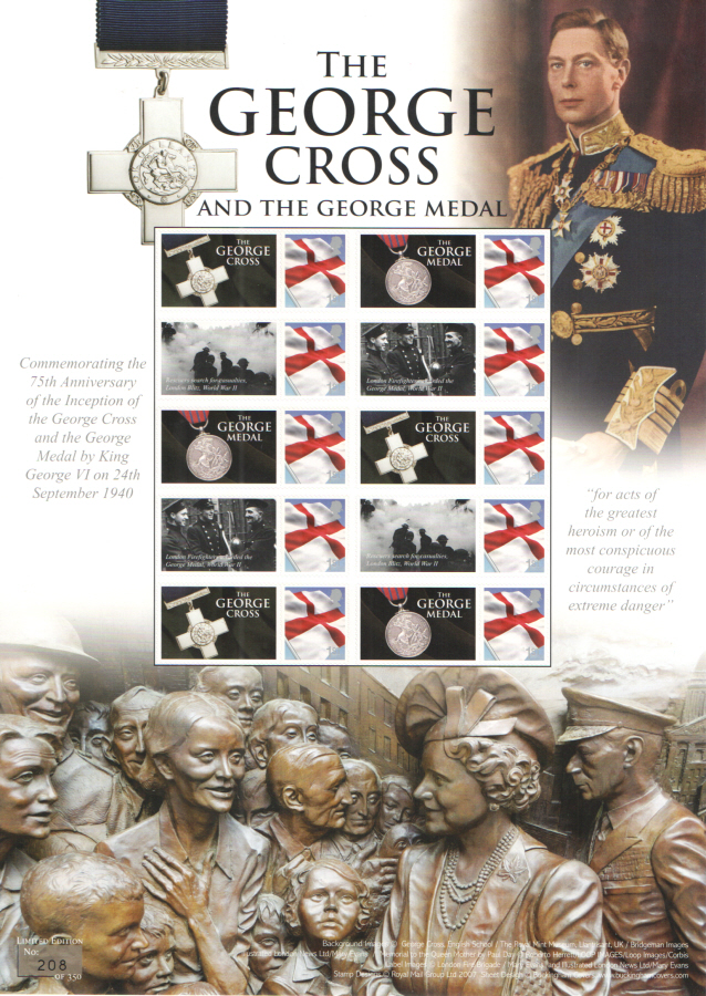 BC-478 2015 The George Cross & Medal Business Smilers Sheet