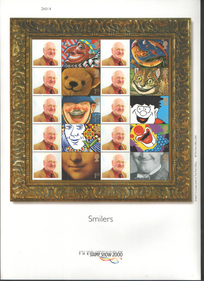 CS-001 Stamp Show 2000 Customised Smilers Sheet