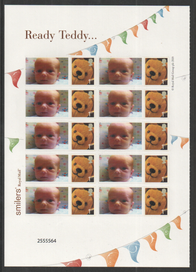 CS-026d Ready Teddy Customised Smilers Half Sheet