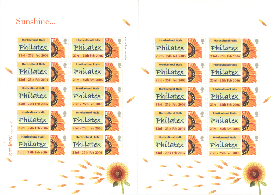 TS-040 2006 Spring Philatex Correct Dates Themed Smilers Sheet