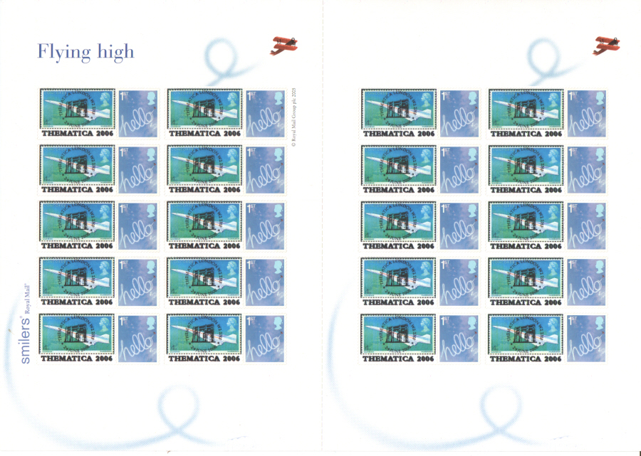 TS-055 2006 Thematica Philatelic Exhibition Themed Smilers Sheet
