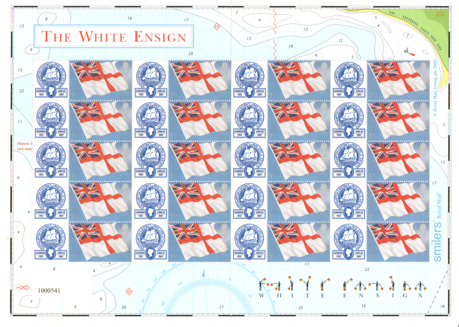 TS-101 2007 Southampton & District Philatelic Society Themed Smilers Sheet