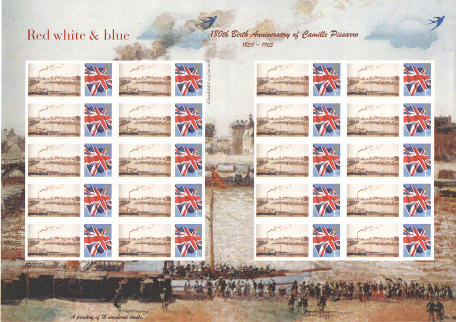 TSL-173 2010 Camille Pissarro Limited Themed Smilers Sheet