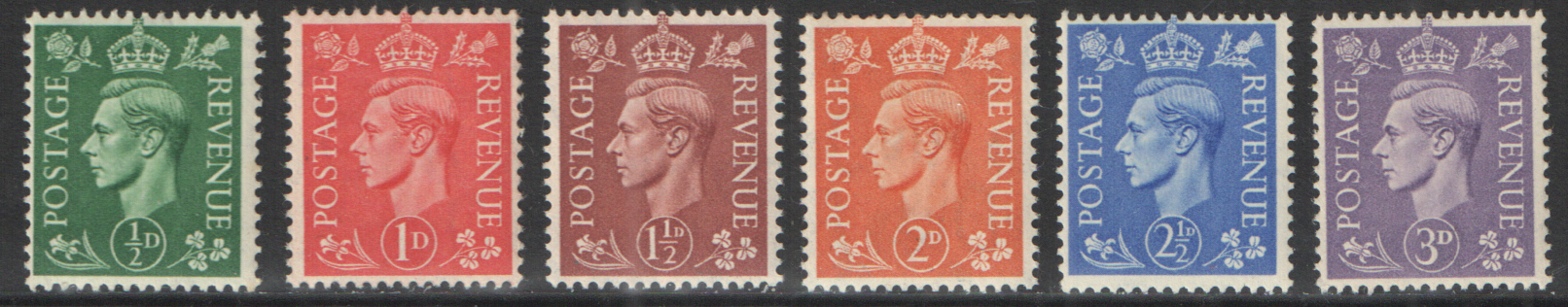 SG485 / 90 George VI 1941 Pale Colours unmounted mint set of 6
