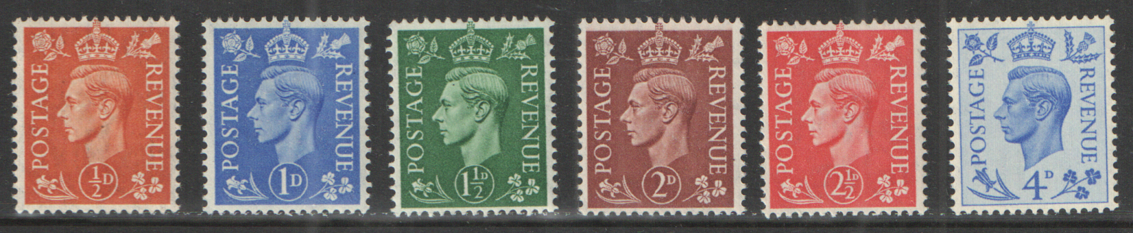 SG503 / 08 George VI 1950 New Colours unmounted mint set of 6