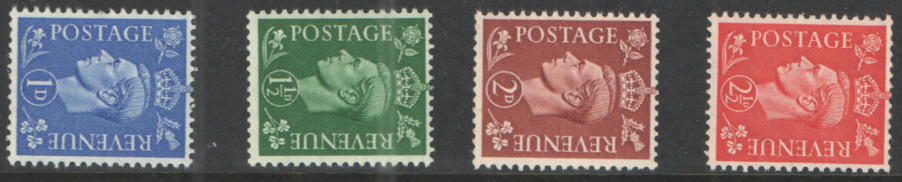 SG504a / 07a Sideways Watermark George VI 1950 New Colours unmounted mint set of 4
