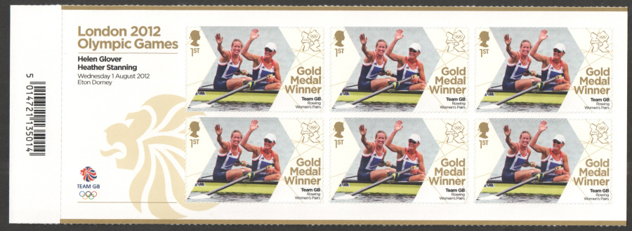 SG3342a Glover & Stanning London 2012 Olympic Gold Medal Winner Miniature Sheet