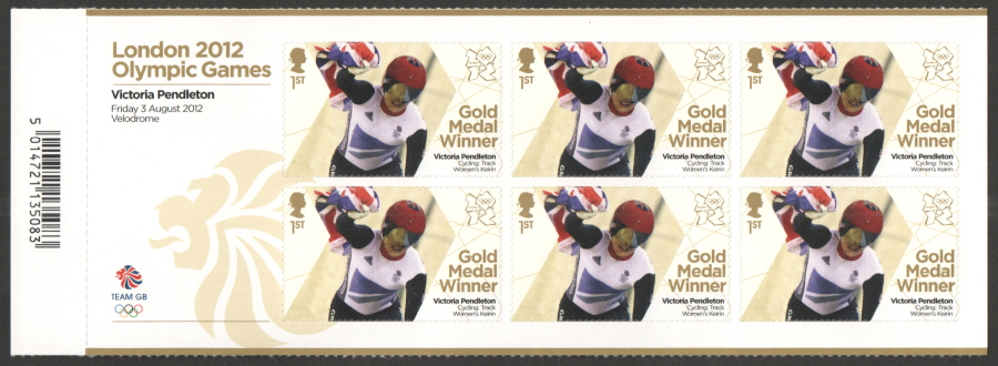 SG3349a Victoria Pendleton London 2012 Olympic Gold Medal Winner Miniature Sheet