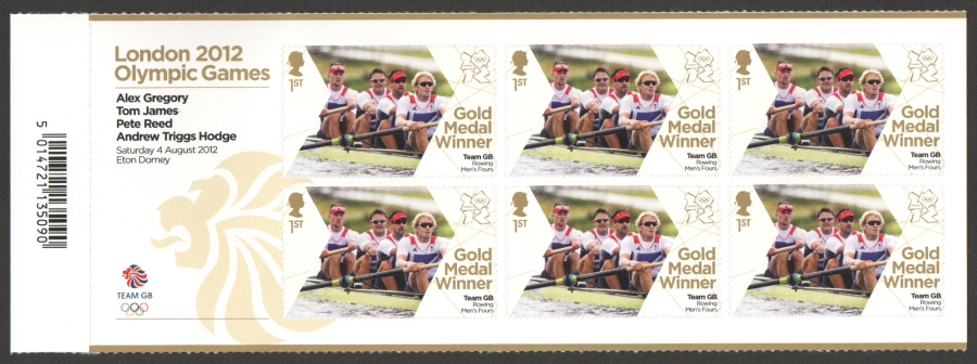SG3350a Gregory, James, Reed & Triggs Hodge London 2012 Olympic Gold Medal Winner Miniature Sheet