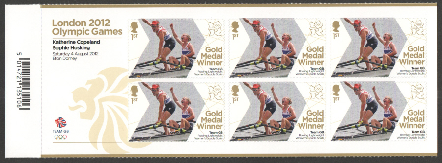 SG3351a Copeland & Hosking London 2012 Olympic Gold Medal Winner Miniature Sheet
