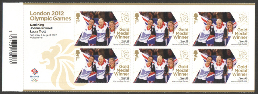 SG3352a King, Rowsell & Trott London 2012 Olympic Gold Medal Winner Miniature Sheet