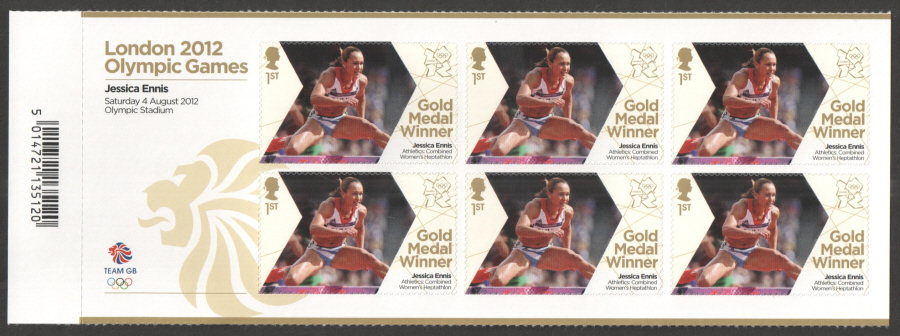 SG3353a Jessica Ennis London 2012 Olympic Gold Medal Winner Miniature Sheet