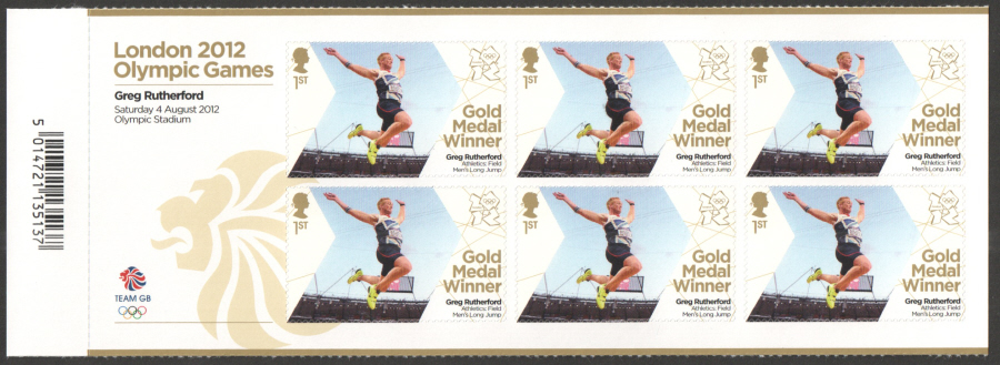 SG3354a Greg Rutherford London 2012 Olympic Gold Medal Winner Miniature Sheet