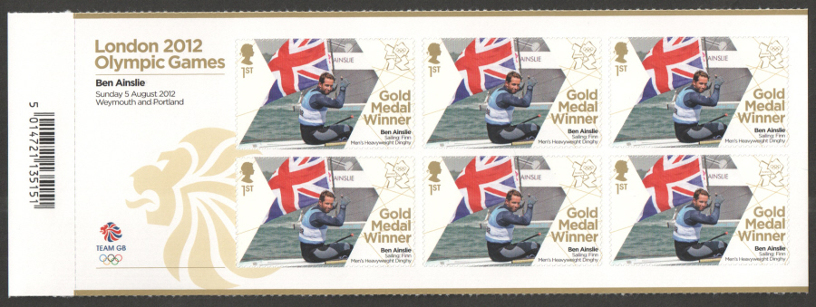 SG3356a Ben Ainslie London 2012 Olympic Gold Medal Winner Miniature Sheet
