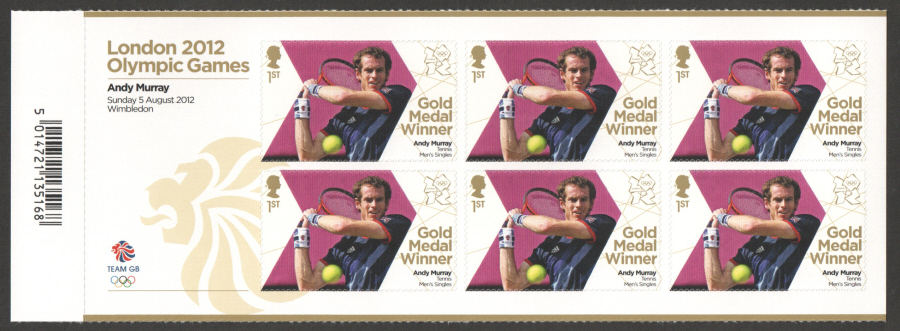 SG3357a Andy Murray London 2012 Olympic Gold Medal Winner Miniature Sheet