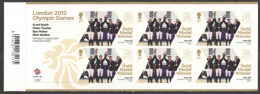 SG3358a Brash, Charles, Mayer & Skelton London 2012 Olympic Gold Medal Winner Miniature Sheet