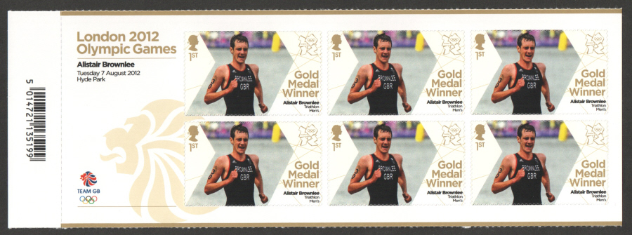 SG3360a Alistair Brownlee London 2012 Olympic Gold Medal Winner Miniature Sheet