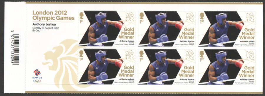 SG3370a Anthony Joshua London 2012 Olympic Gold Medal Winner Miniature Sheet