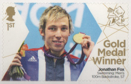 SG3373 Jonathan Fox London 2012 Paralympic Gold Medal Winner stamp