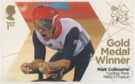 SG3374 Mark Colbourne London 2012 Paralympic Gold Medal Winner stamp