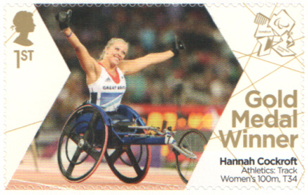 SG3375 Hannah Cockroft London 2012 Paralympic Gold Medal Winner stamp