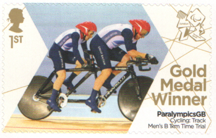 SG3376 Fachie & Storey London 2012 Paralympic Gold Medal Winner stamp