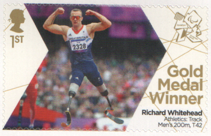 SG3377 Richard Whitehead London 2012 Paralympic Gold Medal Winner stamp