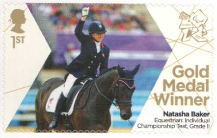 SG3378 Natasha Baker London 2012 Paralympic Gold Medal Winner stamp