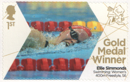 SG3380 Ellie Simmonds London 2012 Paralympic Gold Medal Winner stamp