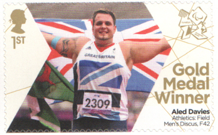 SG3382 Aled Davies London 2012 Paralympic Gold Medal Winner stamp