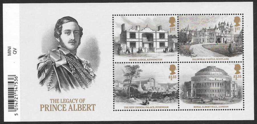 MS (TBC) 2019 Legacy of Prince Albert Barcoded Miniature Sheet
