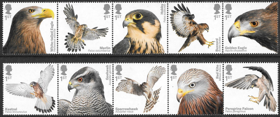 SG(TBC) 2019 Birds of Prey unmounted mint set of 10