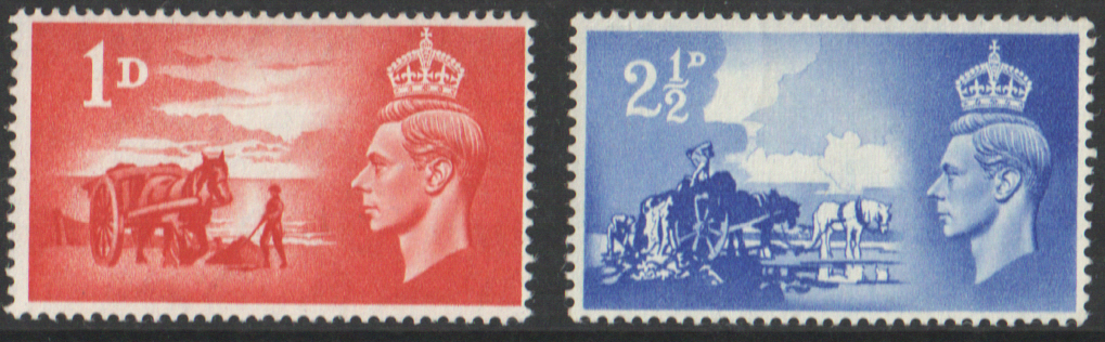 SG C1 / C2 1948 George VI Channel Islands Liberation 3rd Anniversary unmounted mint