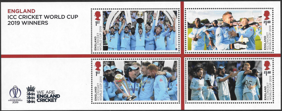 MS(TBC) ICC Cricket World Cup 2019 Winners Non-Barcoded Miniature Sheet