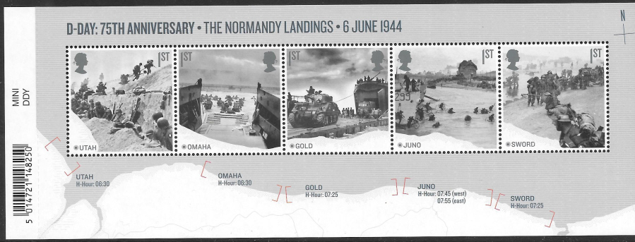 MS (TBC) 2019 D-Day 75th Anniversary Barcoded Miniature Sheet