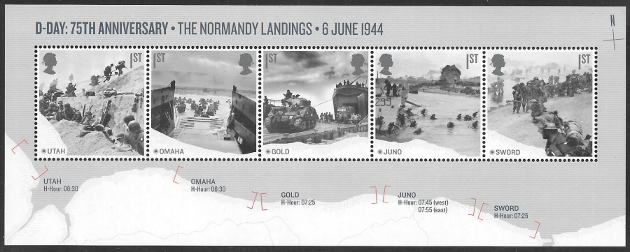 MS (TBC) 2019 D-Day 75th Anniversary Non-Barcoded Miniature Sheet