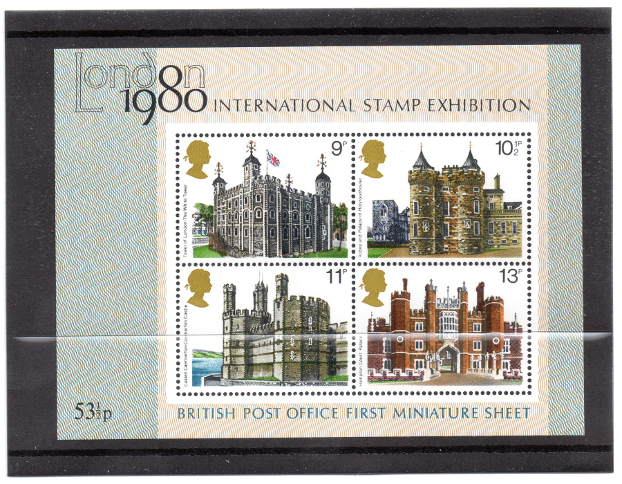 MS1058 1978 British Architecture Royal Mail Miniature Sheet