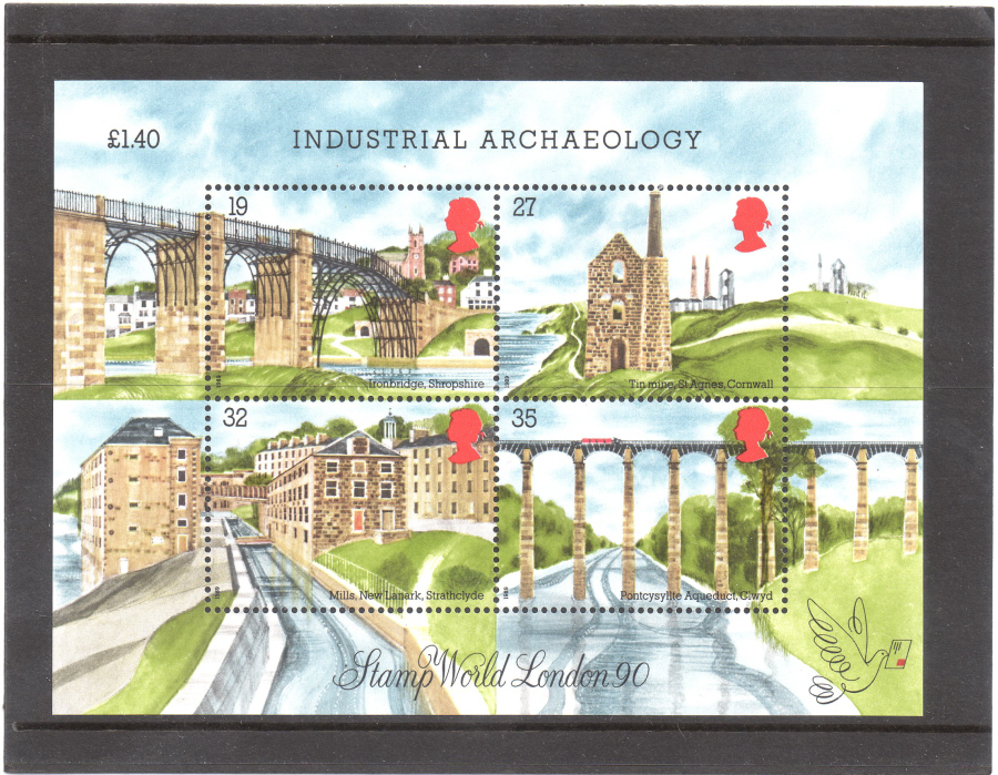 MS1444 1989 Industrial Archaeology Royal Mail Miniature Sheet