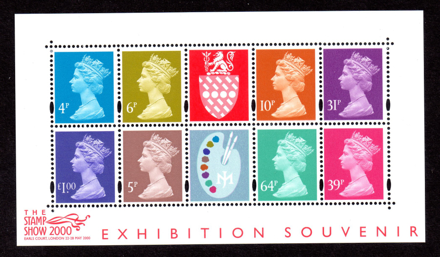 MS2146 2000 Jeffery Matthews Palette Stamp Show 2000 Royal Mail Miniature Sheet