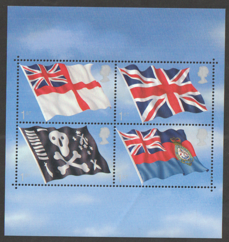 MS2206 2001 Flags & Ensigns Royal Mail Miniature Sheet